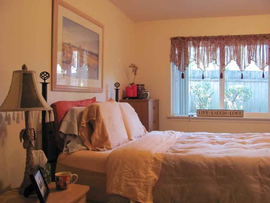 Our master bedroom after Alice put it together.