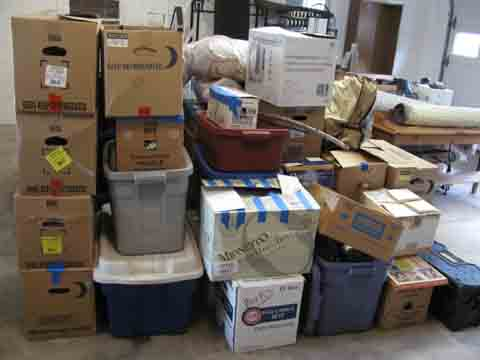 Alice packed our possessions carefully and moved them into the garage.  We wonder what they look like now.