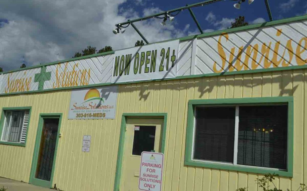 Bailey's one and only pot shop: Sunrise Solutions.