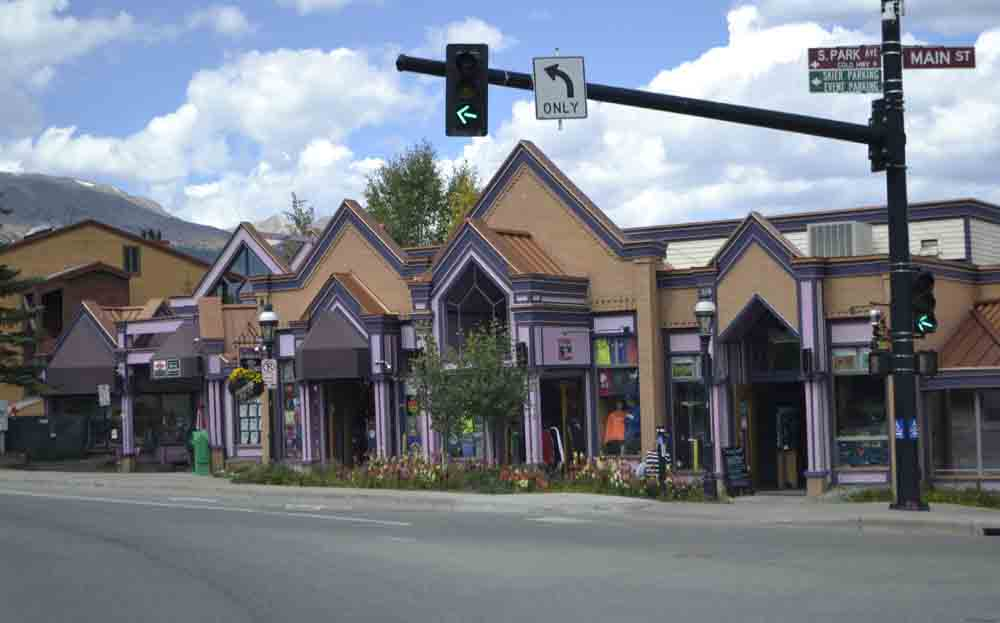 The buildings on the main street of Breckenridge leave little doubt that prices may be steep.