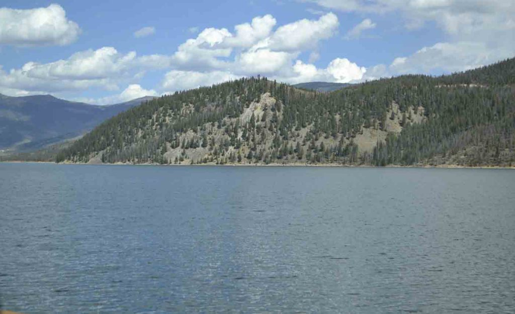 The elevation of Dillon Reservoir is over 9,000 feet high.