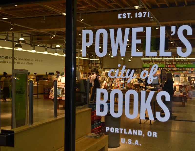 Powell's City of Books occupies an entire downtown city block, stocking over 1 million new and used books.