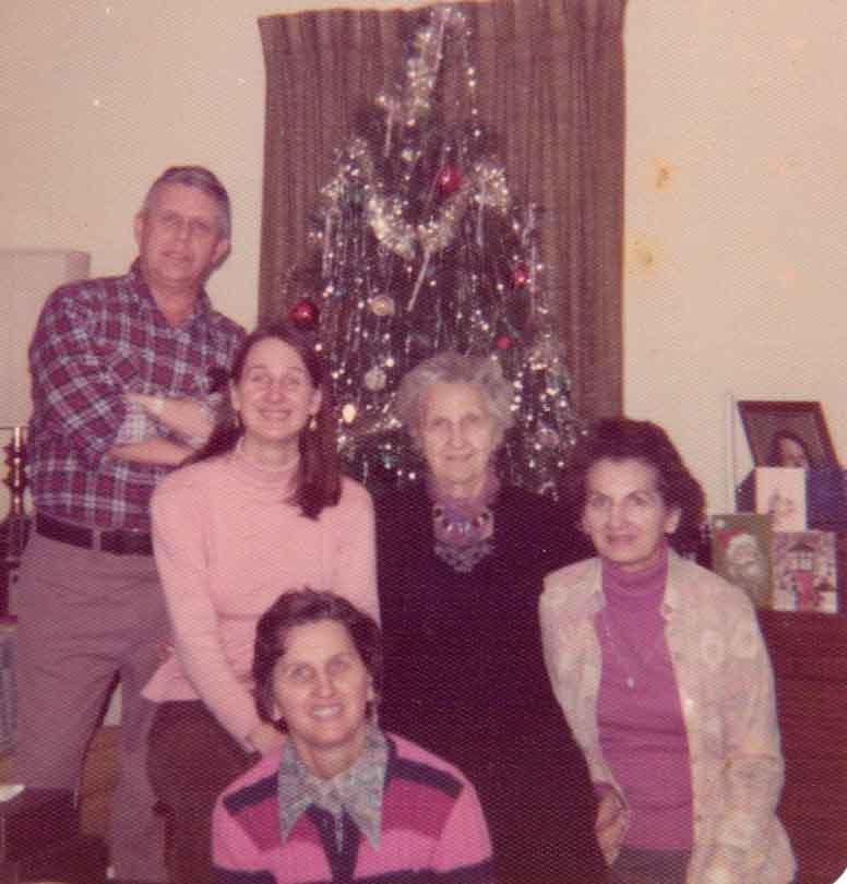 (l-r) Eddie McCormick, Alice Reedhead, Grace Wiley McCormick, Grandma Johnston, Gladys Reedhead
