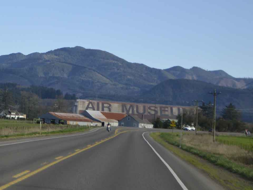 An enormous hangar three miles south of Tillamook housed Navy blimps during World War II that scouted the Coast for Japanese subs. It's now the home of an aircraft museum, and impossible to miss from US 101.