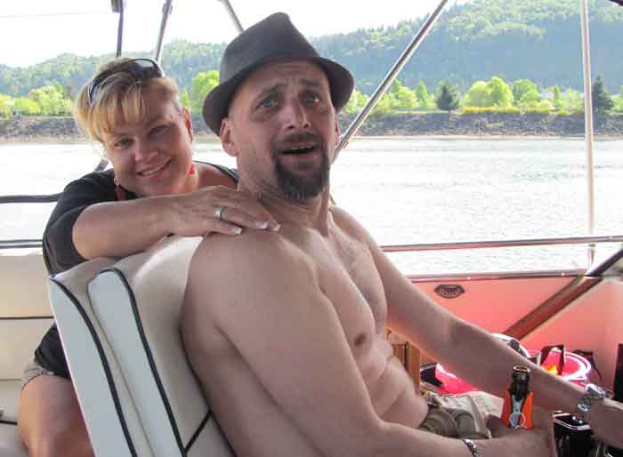 Scott Chill assists in the captain's chair while wife Diane provides the camaraderie.