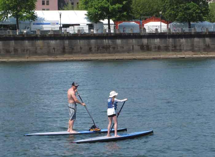 All sorts of watercraft enjoy Portland's river scenery.