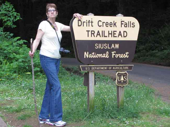 After the three-mile roundtrip hike was complete, Alice shows she's a real trouper.