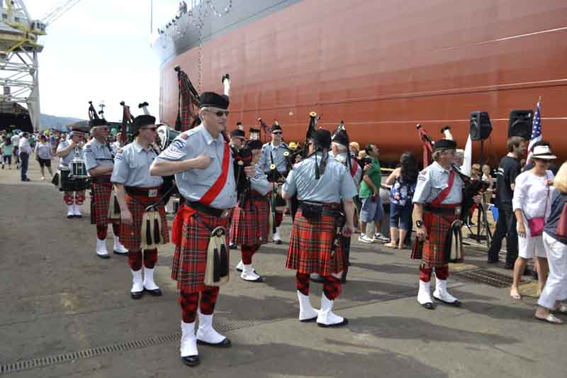 Performing was the Clan Macleay Band, a troupe of 20 pipers and drummers from southern Washington and Oregon formed shortly after World War I.
