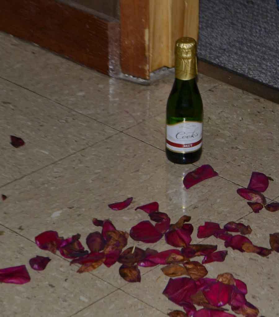 "Flower petals and champagne mean ""ooo-la-la."""