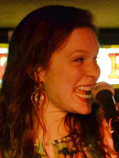 Jessi Teich brought the crowded room at Jon and Peter's to its feet.