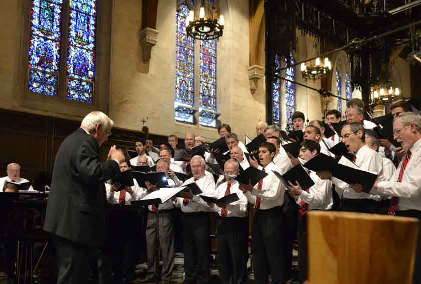 In 2013, I participated in an alumni concert in the Boychoir's new home: St. Joseph's Seminary in Plainsboro, NJ. Can you spot me singing?